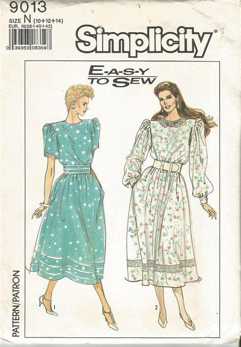 vintage pattern simplicity simplicity 9013 vintage pattern womens dress full skirt