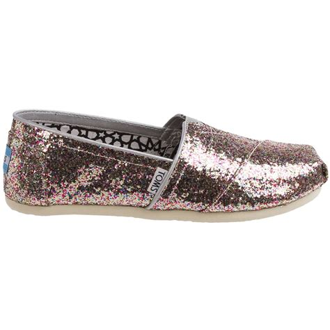 toms classic multi glitter shoes for