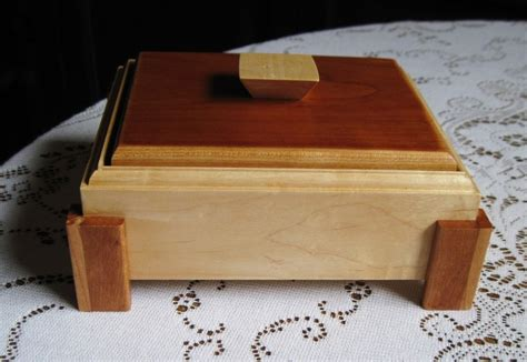 Wood Jewelry Boxes Handmade - custom made made to order handmade footed wood jewelry