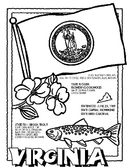 virginia state colors virginia coloring page crayola