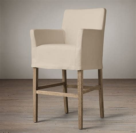 Parson Bar Stool Covers by Parsons Slipcover Barstool From Restoration Hardware