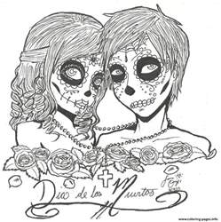 coloring pages for adults skulls print skull sugar couples coloring pages sugar