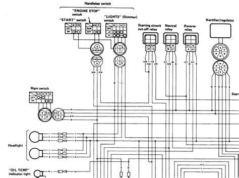 yamaha yfm350xp warrior atv wiring diagram and color code