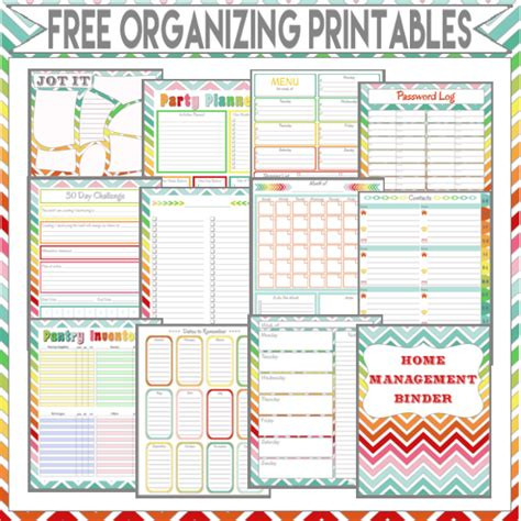 home organiser more than 200 free home management binder printables