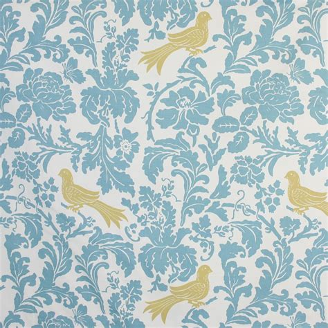 home decor fabric nature garden birds with flowers