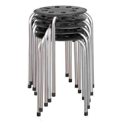 Norwood Commercial Furniture Plastic Stack Stools by Norwood Commercial Furniture Plastic Stack Stool Black