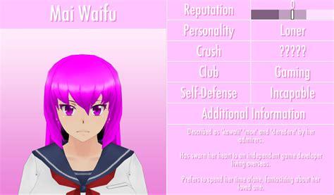 Image 6 1 2016 Mai Waifu Profile Png Yandere Simulator
