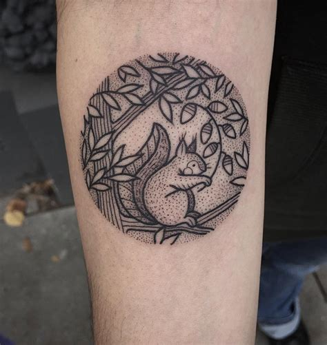 dotwork tattoo dotwork squirrel best design ideas