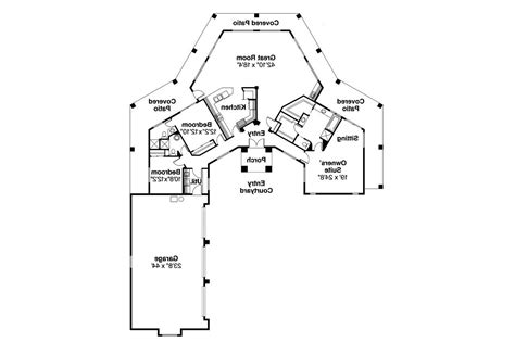 Southwest Floor Plans Southwest House Plans Santa Fe 11 127 Associated Designs