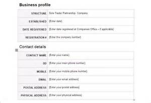 company profile template for small business doc 12421754 company profile exles for small business