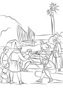 lds coloring pages nephi builds a ship nephi builds a boat coloring page free printable