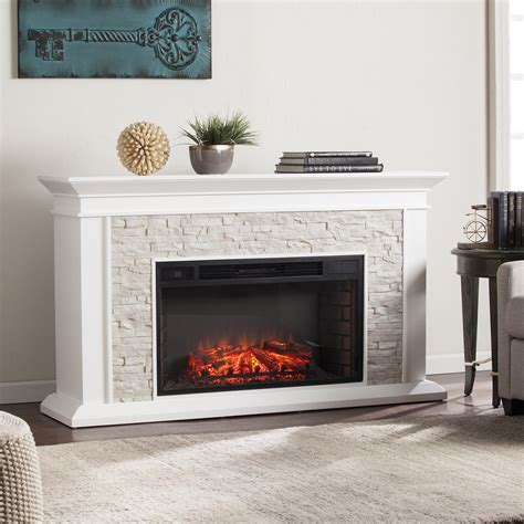"""60"""" Canyon Heights Simulated Stone Electric Fireplace"""