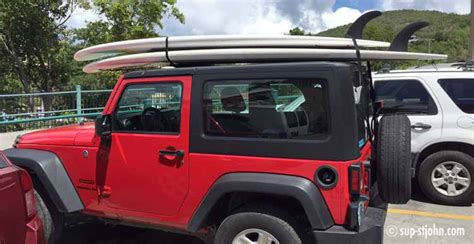 Paddle Board On Jeep Wrangler How To Transport Paddleboards St Sup Rental Sup