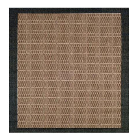 checkered rugs home decorators collection checkered field cocoa 8 ft x 6 in square area rug 2881565840 the