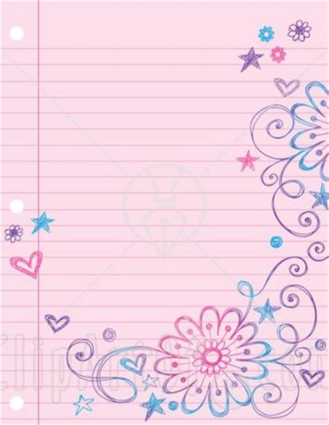free paper doodle theme kid writing paper with borders i wish i could find this