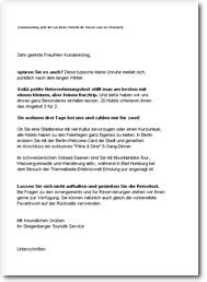 Brief Anfrage Catering Business Wissen Management Security Akquise Email