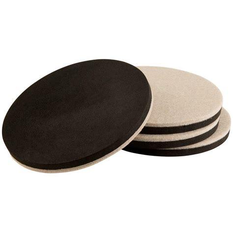 Home Depot Furniture Sliders by Everbilt 5 In Oatmeal Thin Felt Reusable Slider 4
