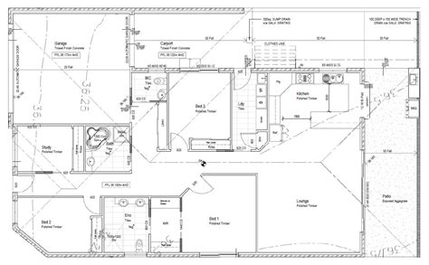 house layout plans hosue scale drawing pencil and in color