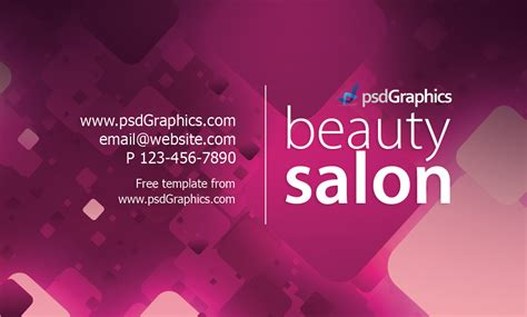 hairdresser business card templates free salon business card template psdgraphics