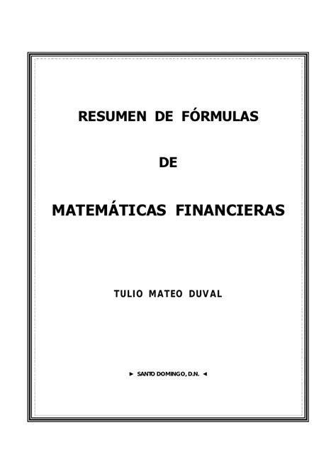imagenes de matematica finaciera f 211 rmulas b 193 sicas relativas a las matem 193 ticas financieras