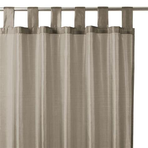 rideau 140 x h240 cm satin taupe rideaux eminza