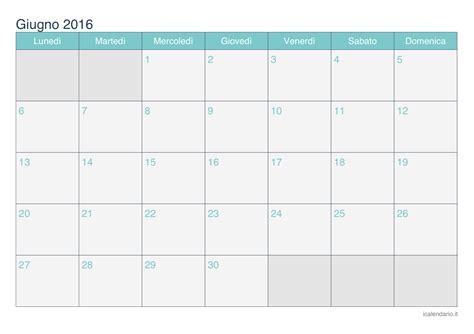 Calendario Giugno 2016 Calendario Giugno 2016 Da Stare Icalendario It