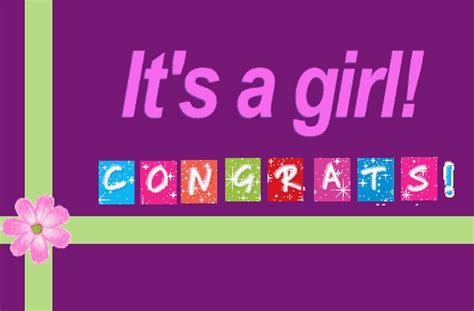 congratulations it's a girl! free new baby ecards | 123