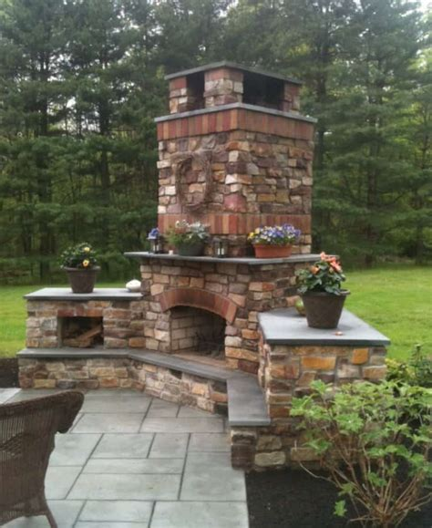 outdoor fireplace ideas 19 best corner fireplace ideas for your home