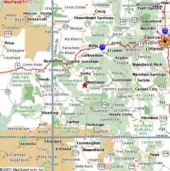 where is montrose colorado on the map montrose colorado