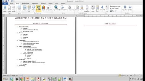 how to make a web diagram creating a website outline and site diagram