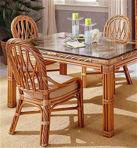 Rattan Kitchen Table New Twist Rattan Rectangle Dining Set By South Sea Rattan 3300