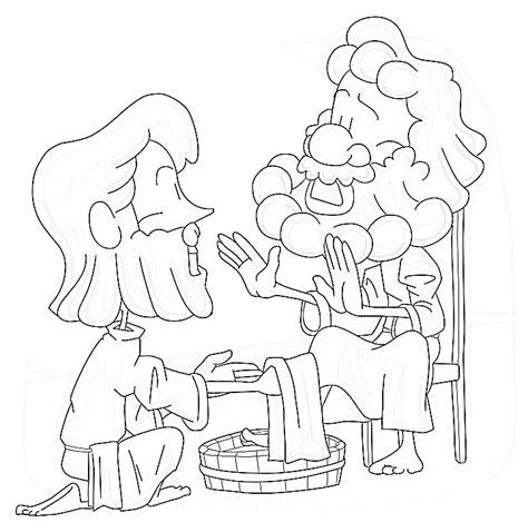 Disciples Free Colouring Pages Jesus Washes The Disciples Coloring Page