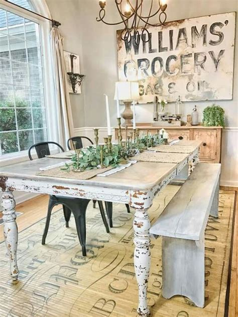 country chic dining table 15 country dining space d 233 cor ideas shelterness