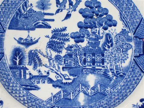 blue pattern china semi vitreous bread and butter plate by ridgeway china co