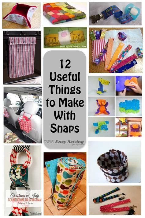 things to make with 12 useful things to make with snaps easy sewing for