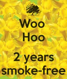 Wall Stickers Personalized woo hoo 2 years smoke free keep calm and carry on image