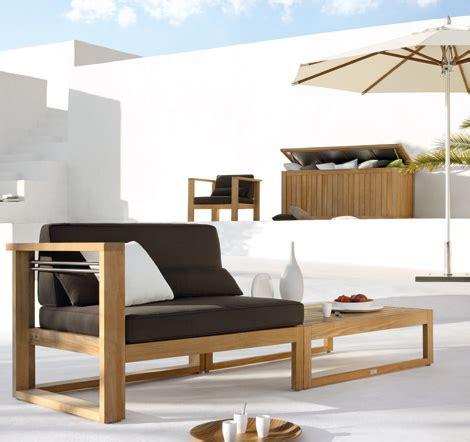 muebles al aire libre estilo zen