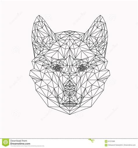 abstract wolf coloring pages wolf portrait vector abstract polygonal geometric