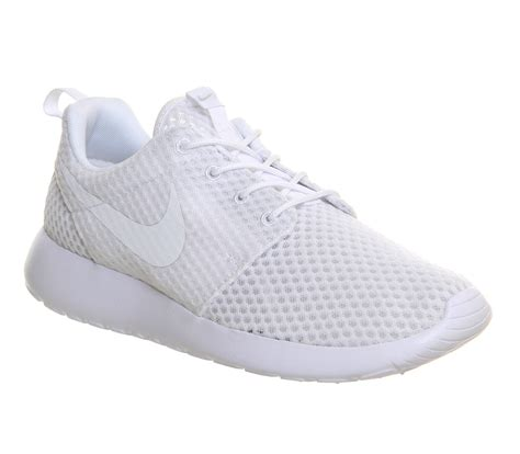 nike roshe run white mono unisex sports