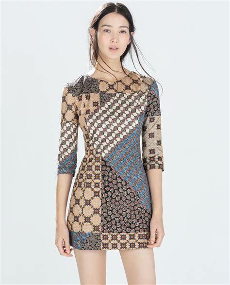 Dress Zara Tile 1000 ideas about patchwork dress on funky