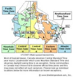 time zone map usa and canada canada time zone