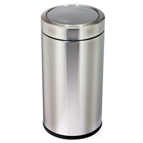 simplehuman swing top trash can trash cans stainless steel swing top can by simplehuman