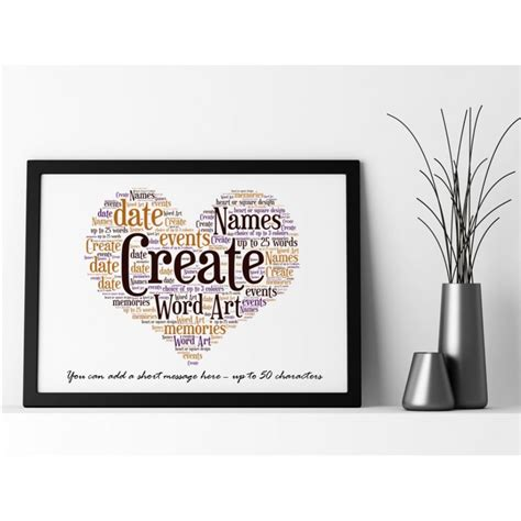 word art design your own create your own framed word art choice of colour frames