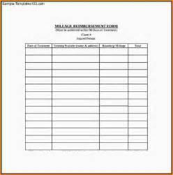 mileage reimbursement form template 9 mileage reimbursement form template mac resume template