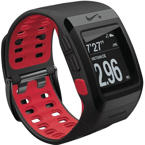 tomtom nike sportwatch digital gps lcd water