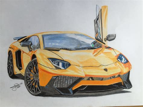 Lamborghini Aventador Zeichnung by Lamborghini Aventador Sv Drawing By Jh Drawings
