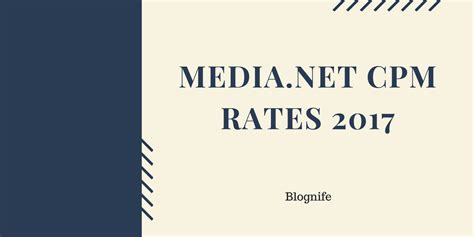 adsense cpm rates media net cpm rates 2018 blognife