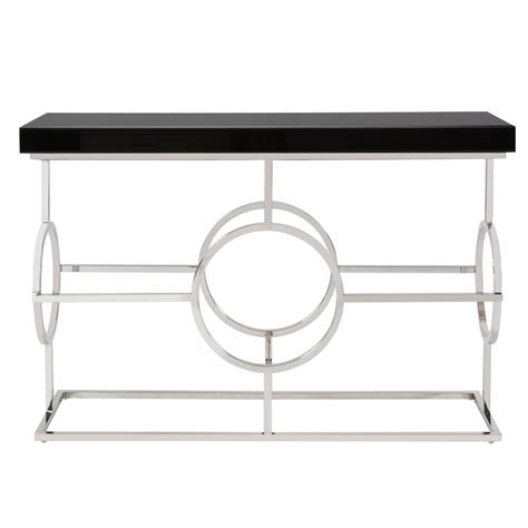 stainless steel sofa table stainless steel console table howard elliott