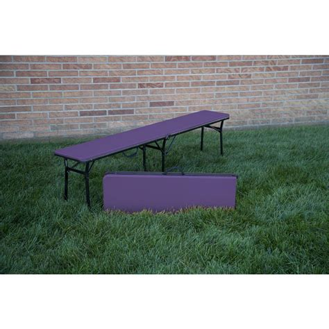 portable folding bench cosco purple portable 2 pack folding tailgate bench