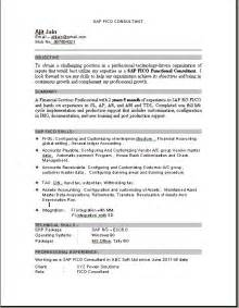 Sap Fico Sle Resume by Sap Fico Consultant Resume